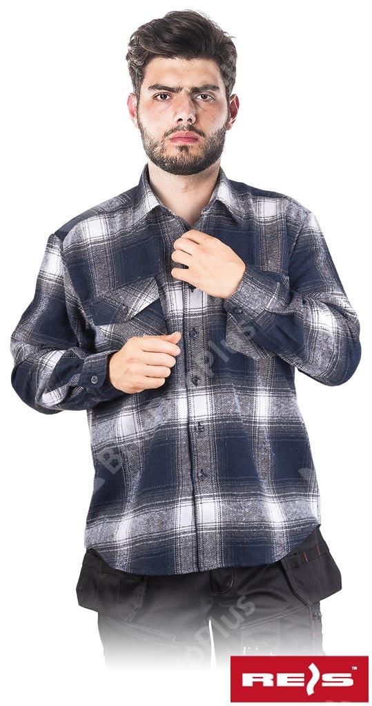 Koszula flanelowa akrylowa KFLUX Hurtownia BHP Duo Plus  HH0oI