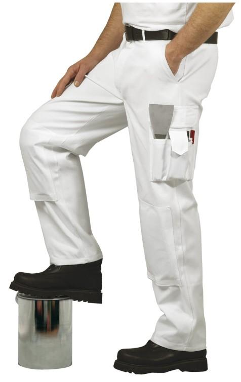 8b5ca3766bdc71 Spodnie malarskie S817 białe - Hurtownia BHP Duo Plus / artykuły BHP ...